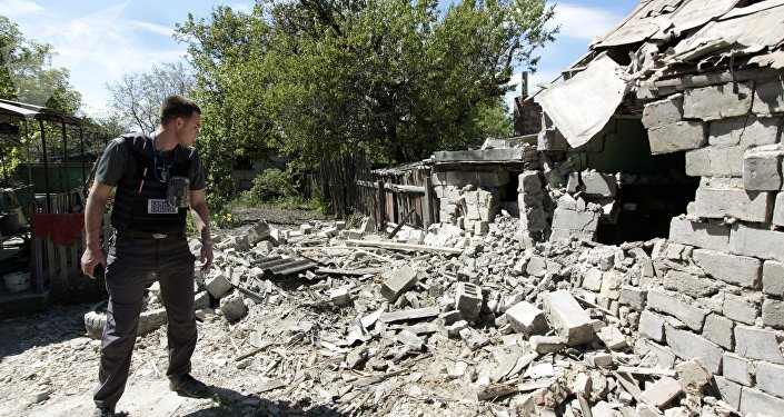 El observadoe de OSCE en Donetsk