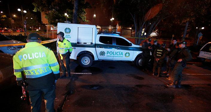 La policía de Bogotá, Colombia