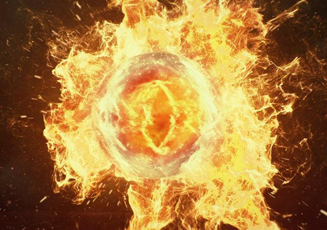 Una bola de fuego (imagen referencial)