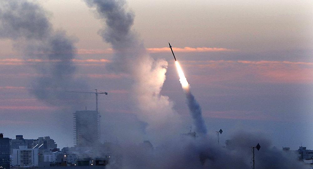 Misiles lanzados desde la ciudad portuaria de Ashdod, Israel