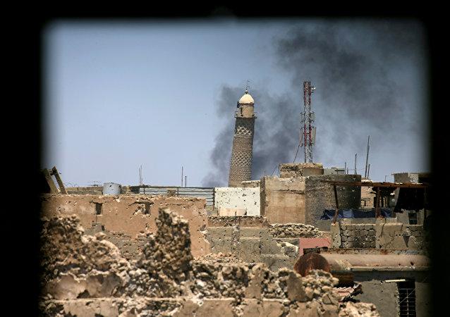 Mezquita de al Nuri en Mosul, Irak