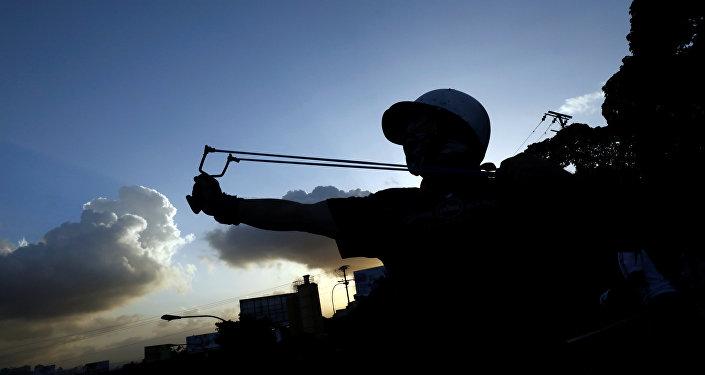 Protesta opositora en Venezuela