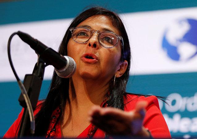 La vicepresidenta venezolana, Delcy Rodríguez.
