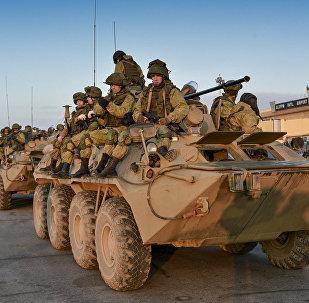 Zapadores y soldados rusos en Alepo, Siria (archivo)