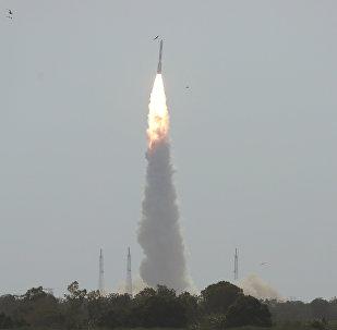 Lanzamiento de in cohete portador indio (archivo)