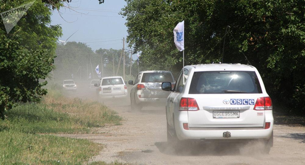Un cortejo de OSCE en Donbás