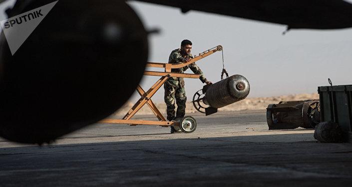La base aérea de Homs (archivo)