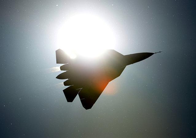 Caza de quinta generación Su-57 PAK FA (imagen referencial)