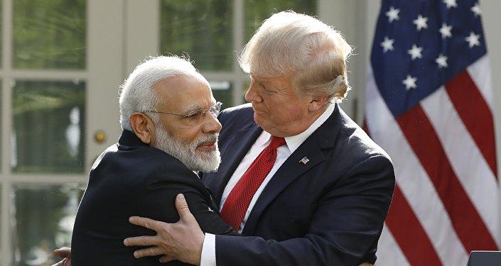 Primer ministro de la India, Narendra Modi, y presidente de EEUU, Donald Trump