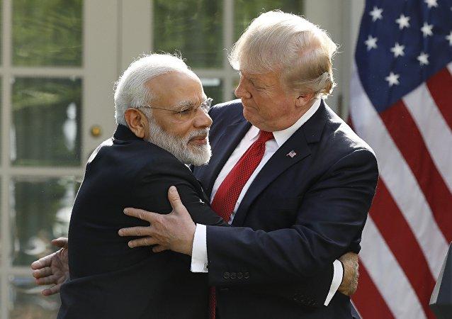 Primer ministro de la India, Narendra Modi, y presidente de EEUU, Donald Trump (archivo)