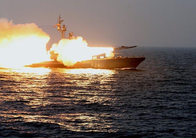 Lanzamiento del misil supersónico ruso Moskit (archivo)