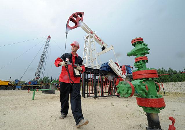 Extracción del crudo en la petrolera rusa