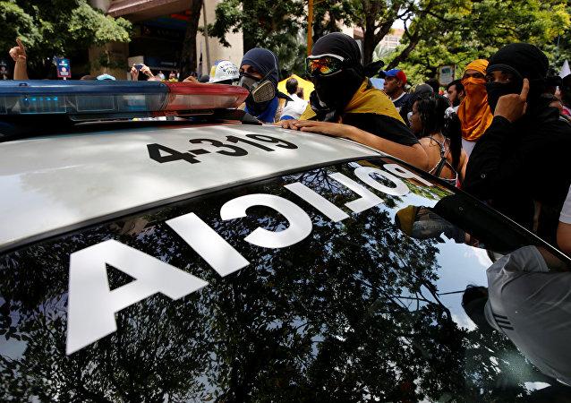 Un coche de la policía venezolana (archivo)