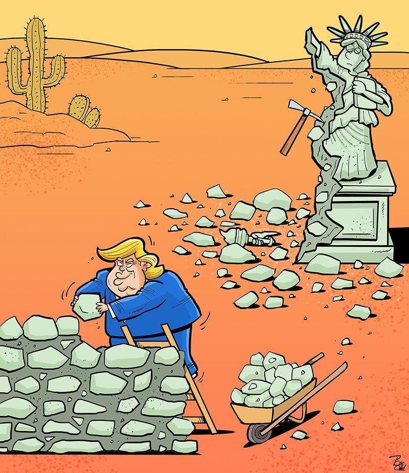 Caricatura de Alireza Pakdel (Irán).