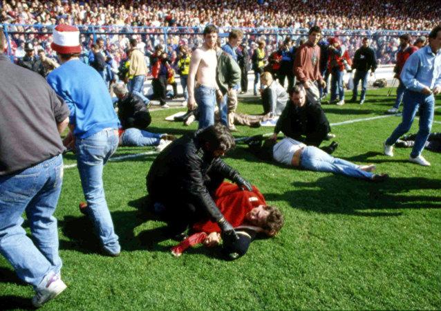 La tragedia de 1989 en el estadio de Hillsborough, Reino Unido, que se saldó con 96 muertos (archivo)