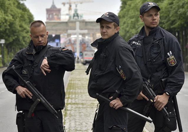 Policías en Berlín (archivo)