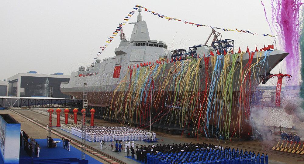 La botadura del crucero de misiles chino (archivo)