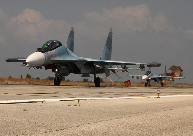 Los aviones rusos Su-30 en Siria (archivo)
