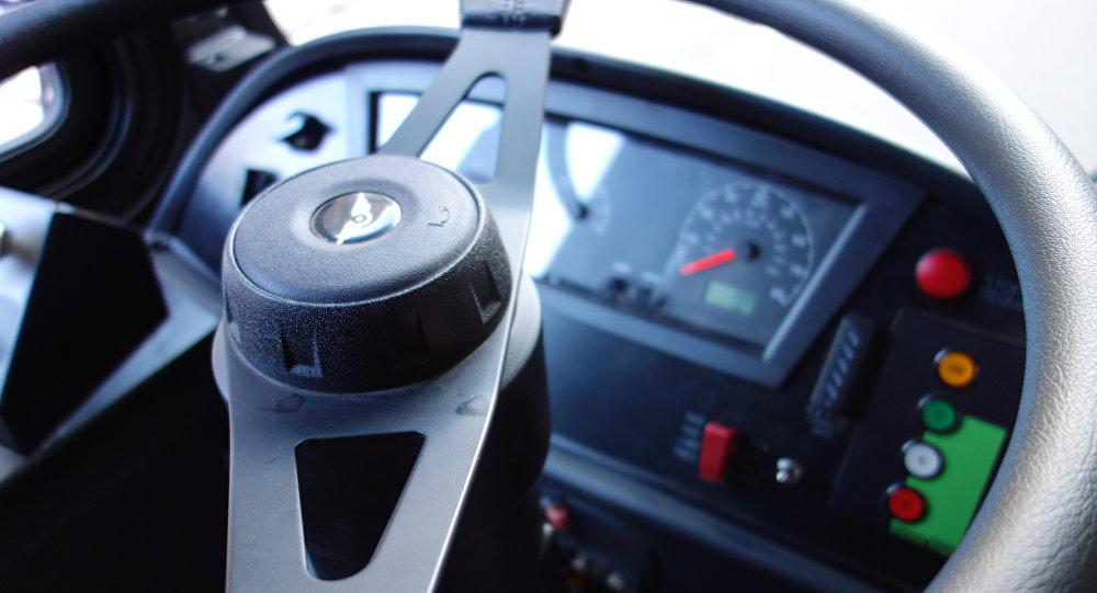 Volante en un bus (imagen referencial)