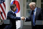 Presidente de Corea del Sur, Moon Jae-in, y presidente de EEUU Donald Trump