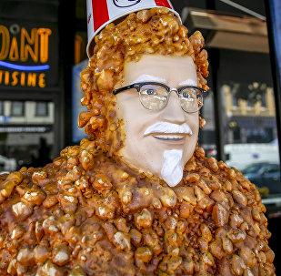 Coronel Sanders, el fundador de KFC (ilustración)