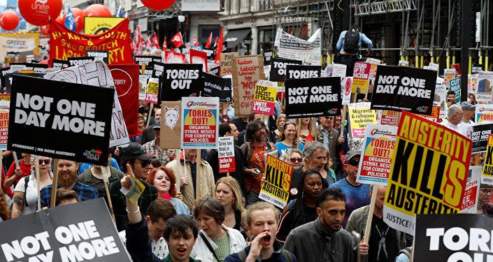 Protesta en Londres contra el Gobierno de Theresa May