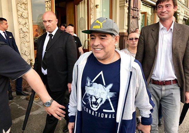 Diego Maradona, el legendario futbolista argentino