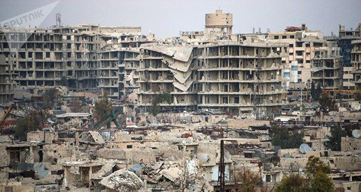 Destrucciones en Damasco, Siria (archivo)