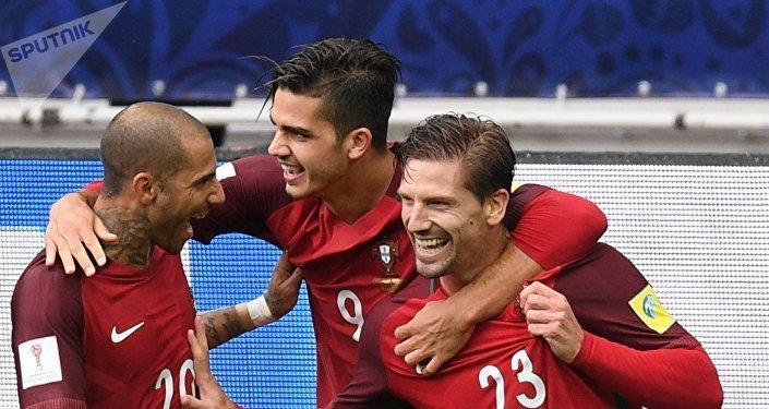 Jugadores de la selección portuguesa