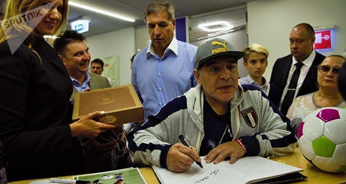 Diego Armando Maradona, exfutbolista y director técnico argentino