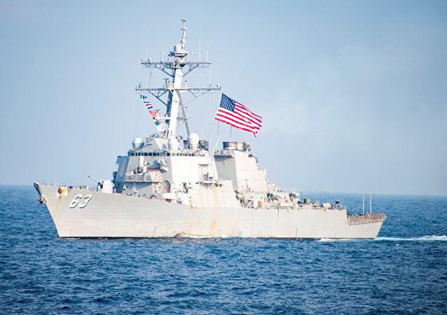 Destructor estadounidense de clase Arleigh Burke (imagen referencial)