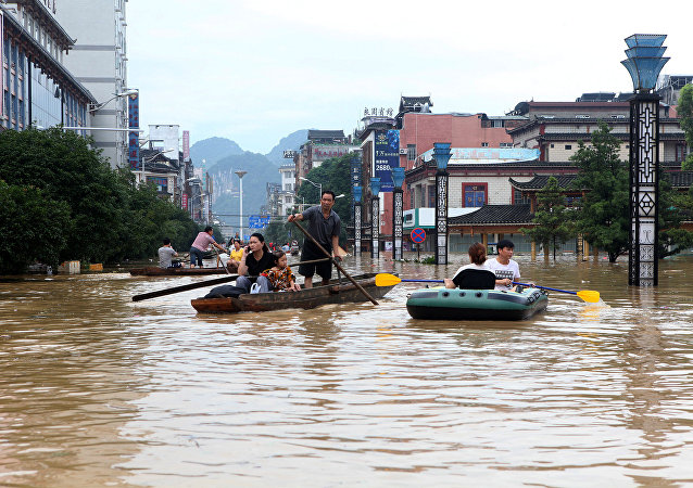 Inundación en China