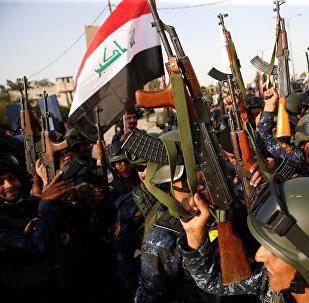 Los militares de Irak en Mosul