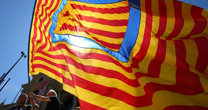 Estelada, bandera independentista catalana (archivo)