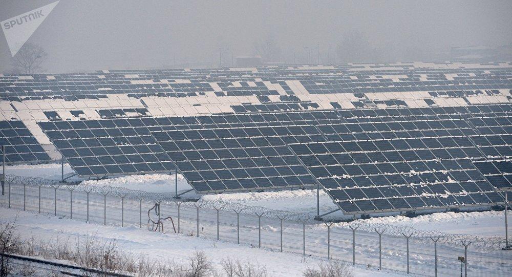 La central solar de Abakán, en el sur de Siberia