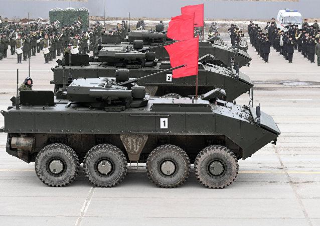 Bumerang, construido sobre la base de la plataforma VPK-7829 (imagen referencial)