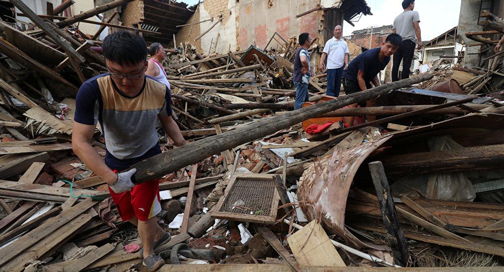 56 muertos por inundaciones en sur y centro de China