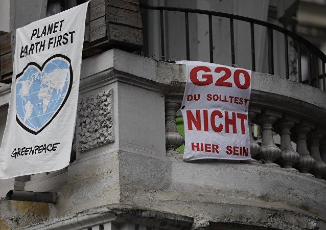 Protestas contra la cumbre del G20 en Hamburgo