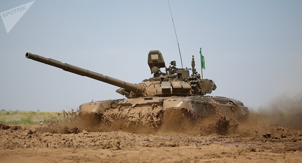 Tanque modernizado de las Fuerzas Armadas de Rusia T-72B3