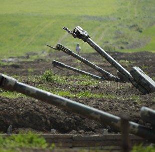 Artillería armenia en Nagorno Karabaj (archivo)