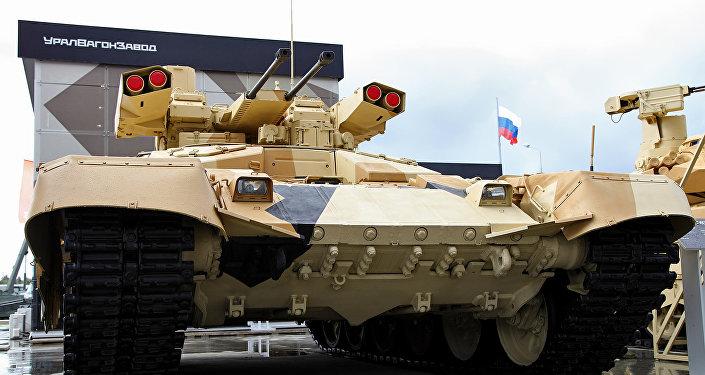 El vehículo de apoyo de fuego ruso BMPT-72 Terminator-2