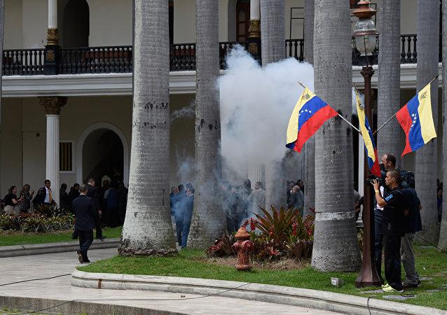 Disturbios en Caracas, Venezuela (archivo)