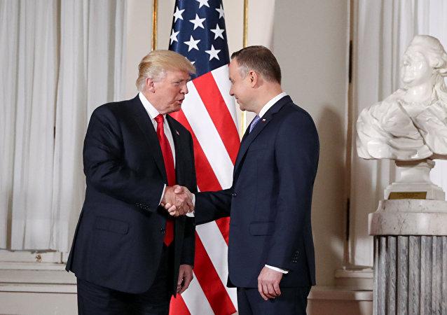 El presidente de EEUU, Donald Trump, y el presidente de Polonia, Andrzej Duda