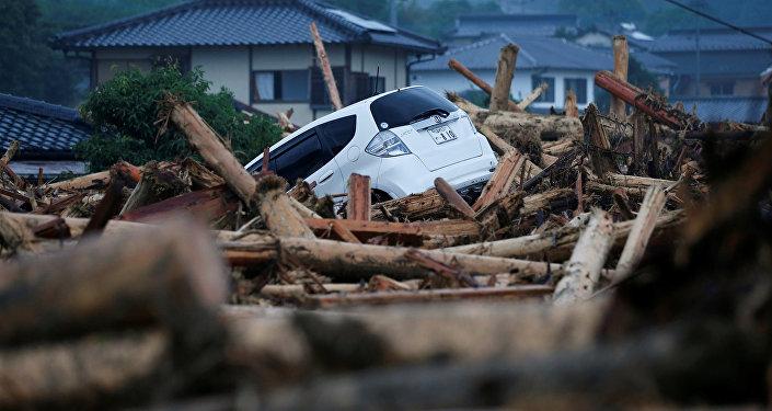 Consecuencias de las lluvias torrenciales y deslave en Japón