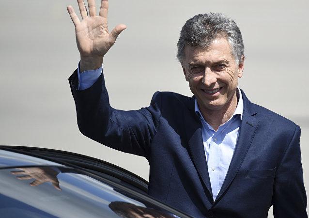 Mauricio Macri, presidente de Argentina en su llegada a Hamburgo a la cumbre del Grupo de los 20