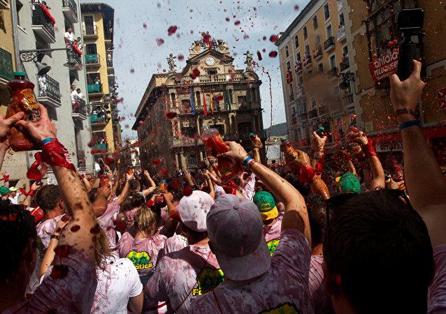 Fiesta de San Fermín an Pamplona, España