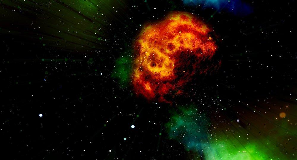 Un asteroide (ilustración)