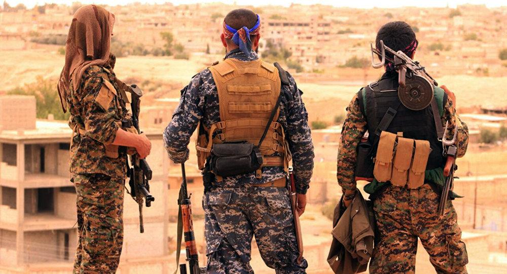 Soldados de las Fuerzas Democráticas Sirias (FDS)