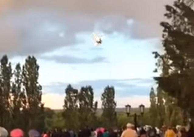 Una avioneta se estrella durante un espectáculo aéreo en Rusia