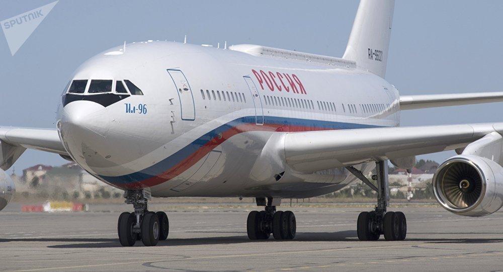 El avión de Vladímir Putin